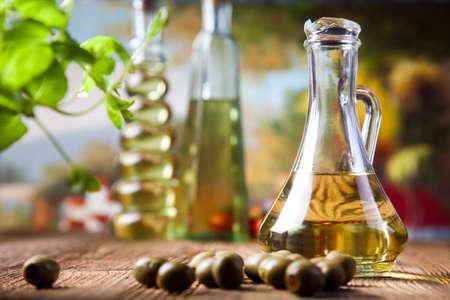 Olive oils in bottles