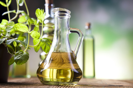 Carafe with olive oil  photo