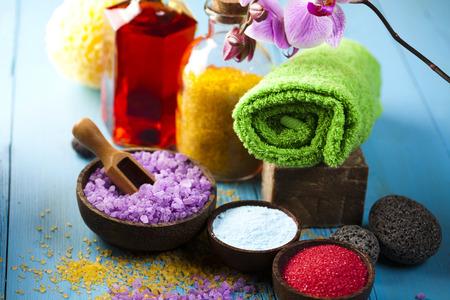 Natural bath salt, organic products, Spa photo