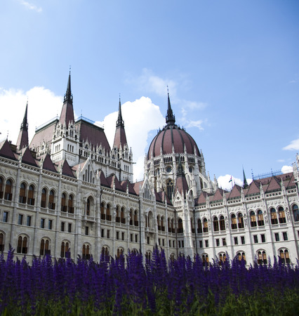 Parliament building in Budapest photo