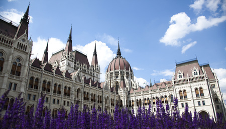 Budapest, view of parliament,Hungary photo