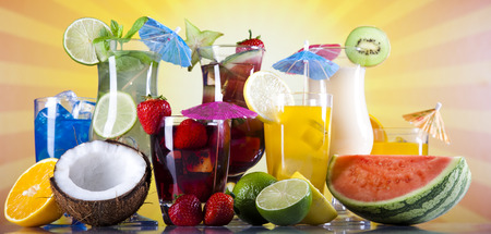 alcoholic drinks: Summer drink Stock Photo