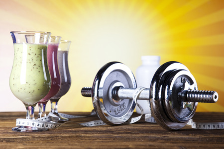 Milk shakes, sport and fitness  photo