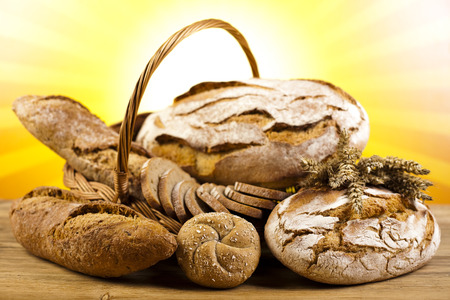 Baked traditional bread photo