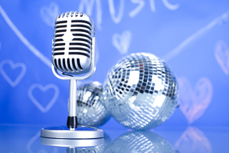Music background, microphone