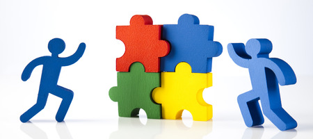 Work Concept by jigsaw puzzles photo