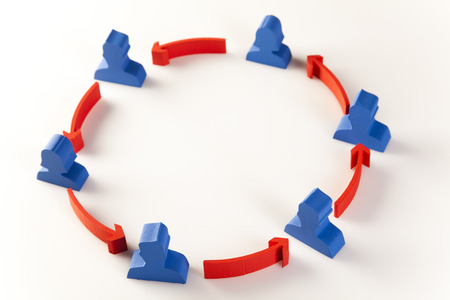 Social group teamwork cycle concept photo