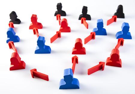 Social group teamwork concept photo