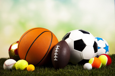 Group of sports equipment photo