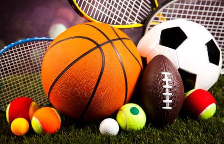symbol sport: Sportausr�stung Lizenzfreie Bilder