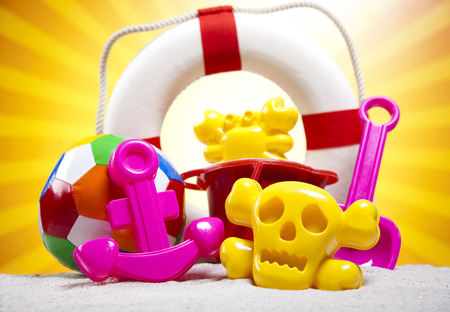Toys for the beach, vacation photo