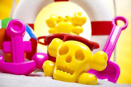 Beach toys, vacation photo