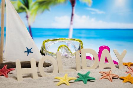 Holiday beach background photo