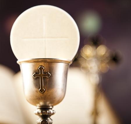 eucharistie: Sainte communion  Banque d'images
