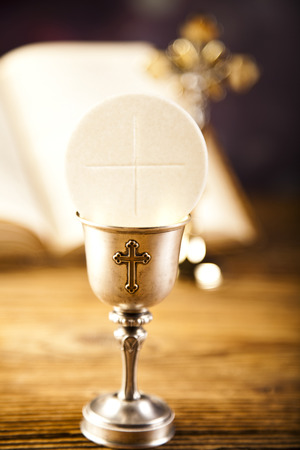 holy eucharist: Eucharist, sacrament of communion Stock Photo