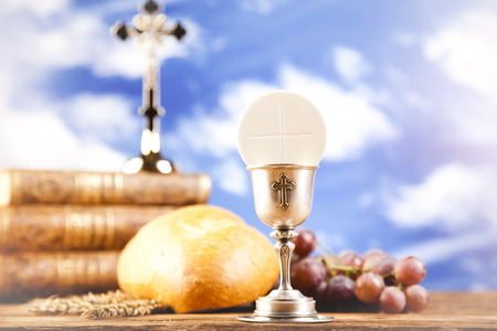 bread and wine: Holy Communion with Bread, Wine
