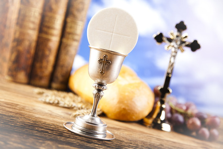 Holy Communion with Bread, Wine photo