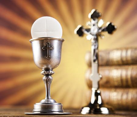 chaplain: Eucharist, sacrament of communion Stock Photo