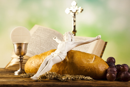 chaplain: Holy Communion with Bread, Wine