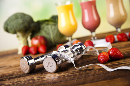 nutricion: La p�rdida de peso, fitness Foto de archivo