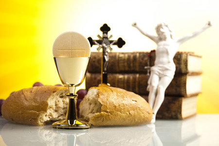 bread and wine: Holy Communion Bread, Wine