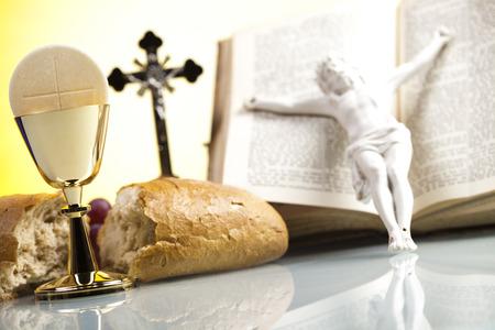 liturgy: Eucharist, sacrament of communion Stock Photo