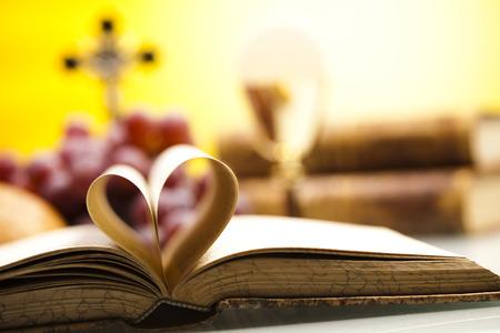 religion catolica: Amo la religi�n Foto de archivo