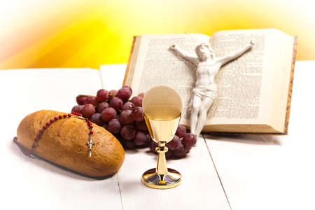 theology: Holy Communion Bread, Wine