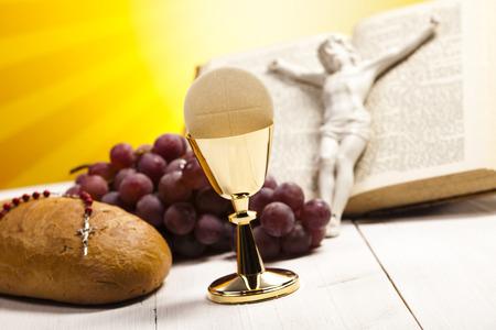 chaplain: First communion Stock Photo