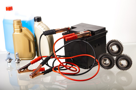 timing the market: Set of auto parts, car battery