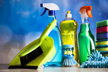 cleaning gloves: Variety of cleaning products,home work