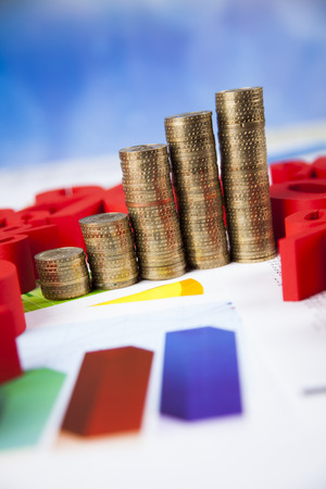 trade off: Finance concept, Percent, natural colorful tone Stock Photo