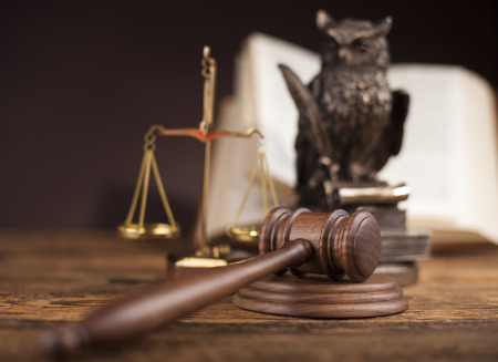 legally: Court gavel,Law theme, mallet of judge