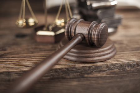 magistrate: Court gavel,Law theme, mallet of judge