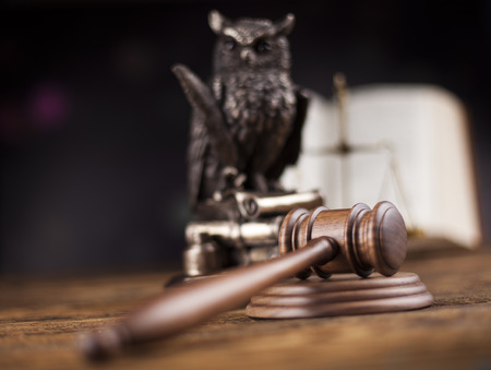 barrister: Wooden gavel barrister, justice concept, legal system