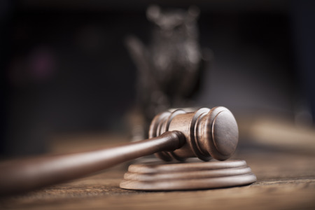 legality: Court gavel,Law theme, mallet of judge