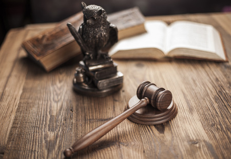 magistrate: Law and justice concept, legal code Stock Photo