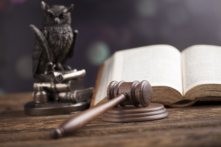legal system: Wooden gavel barrister, justice concept, legal system