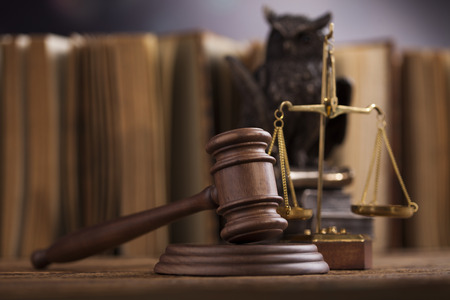 Gavel, Mallet of justice concept Stock Photo