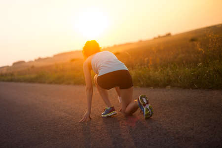 active lifestyle: Training woman and healthy lifestyle