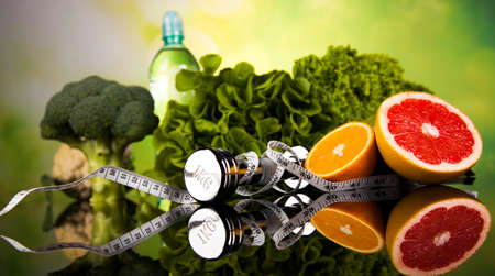 vida sana: Concepto de estilo de vida saludable, la dieta y la forma física