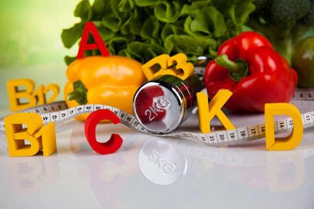 fresh concept: Vitamin concept, Health and fitness concept Stock Photo