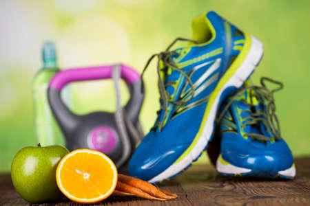 Gesunden Lebensstil-Konzept, Vitamine Zusammensetzung