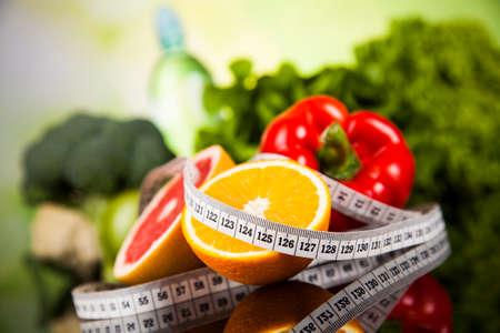 dieta saludable: Concepto de estilo de vida saludable, la dieta y la forma física