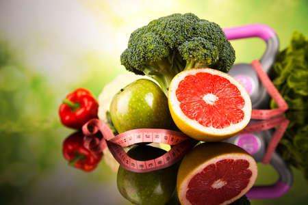 fitness: Concetto di stile di vita sano, dieta e fitness