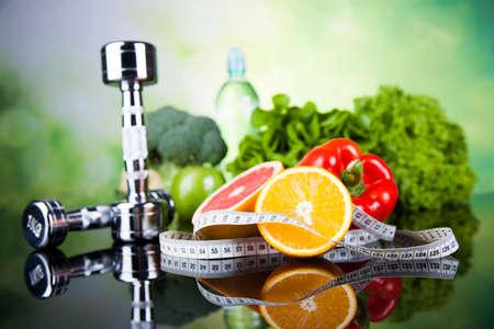 salud y deporte: Concepto de estilo de vida saludable, la dieta y la forma física