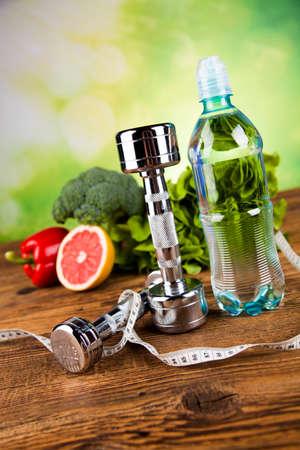 comida saludable: Concepto de estilo de vida saludable, la dieta y la forma f�sica
