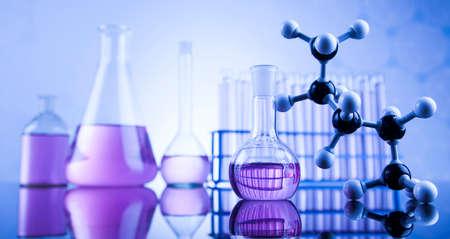 material de vidrio: Concepto de la ciencia, la cristaler�a de laboratorio qu�mico
