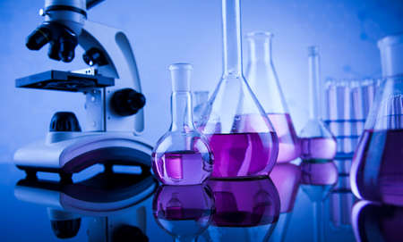 medical science: Science concept, Chemical laboratory glassware