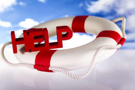 lifebuoy: Lifebuoy and help concept